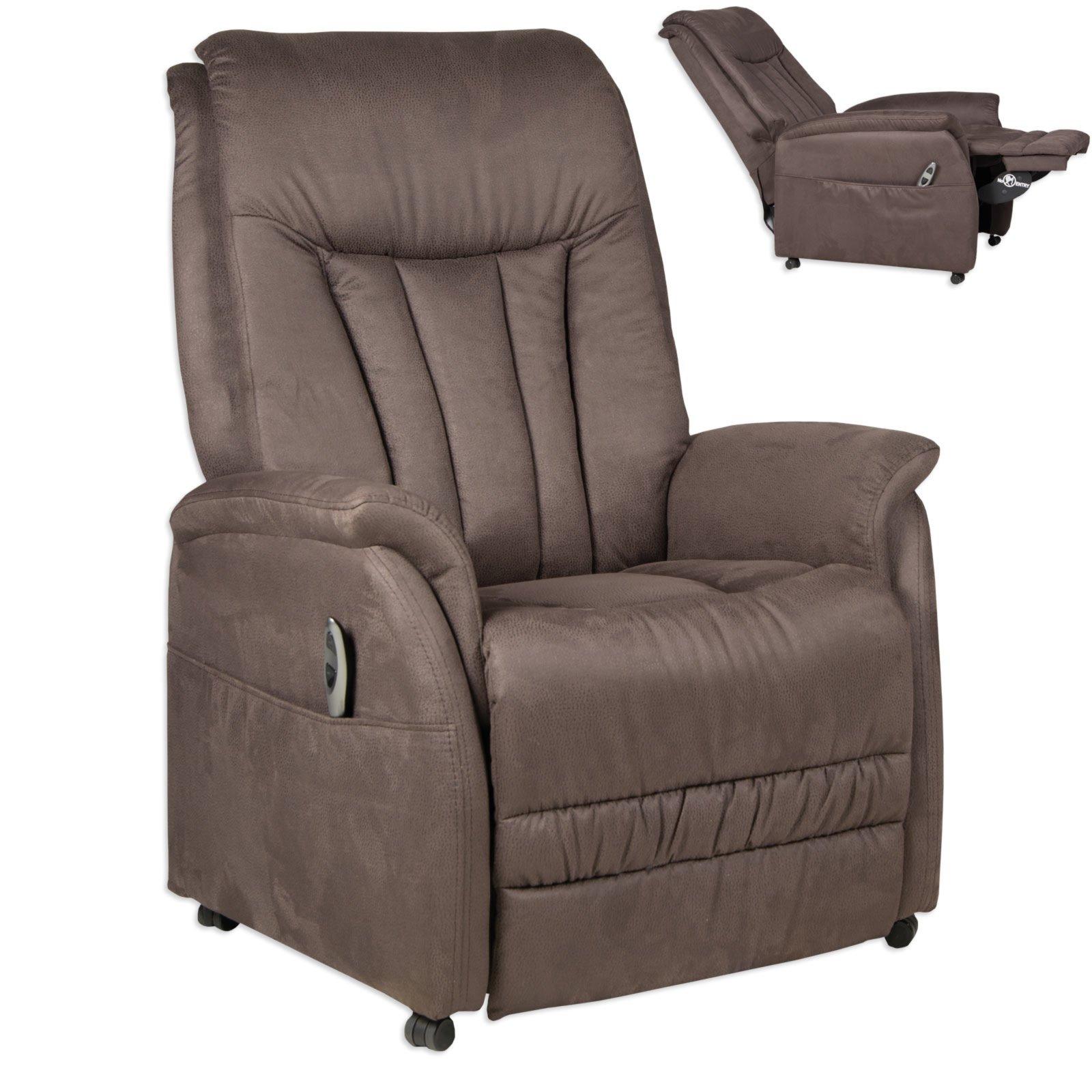 Tv Sessel Braun Microfaser Fernseh Relaxsessel Sessel