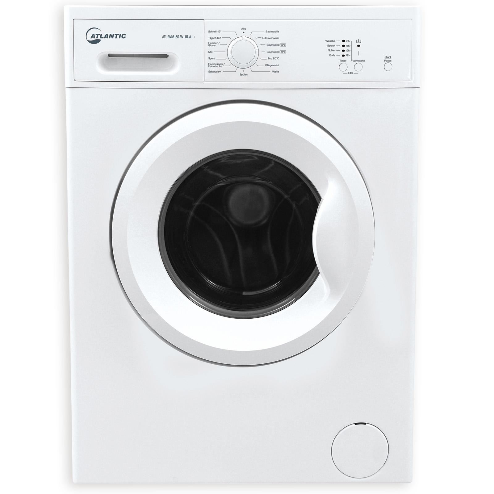 ATLANTIC Waschmaschine ATL-WM-60-W-10-A++ - weiß - A++