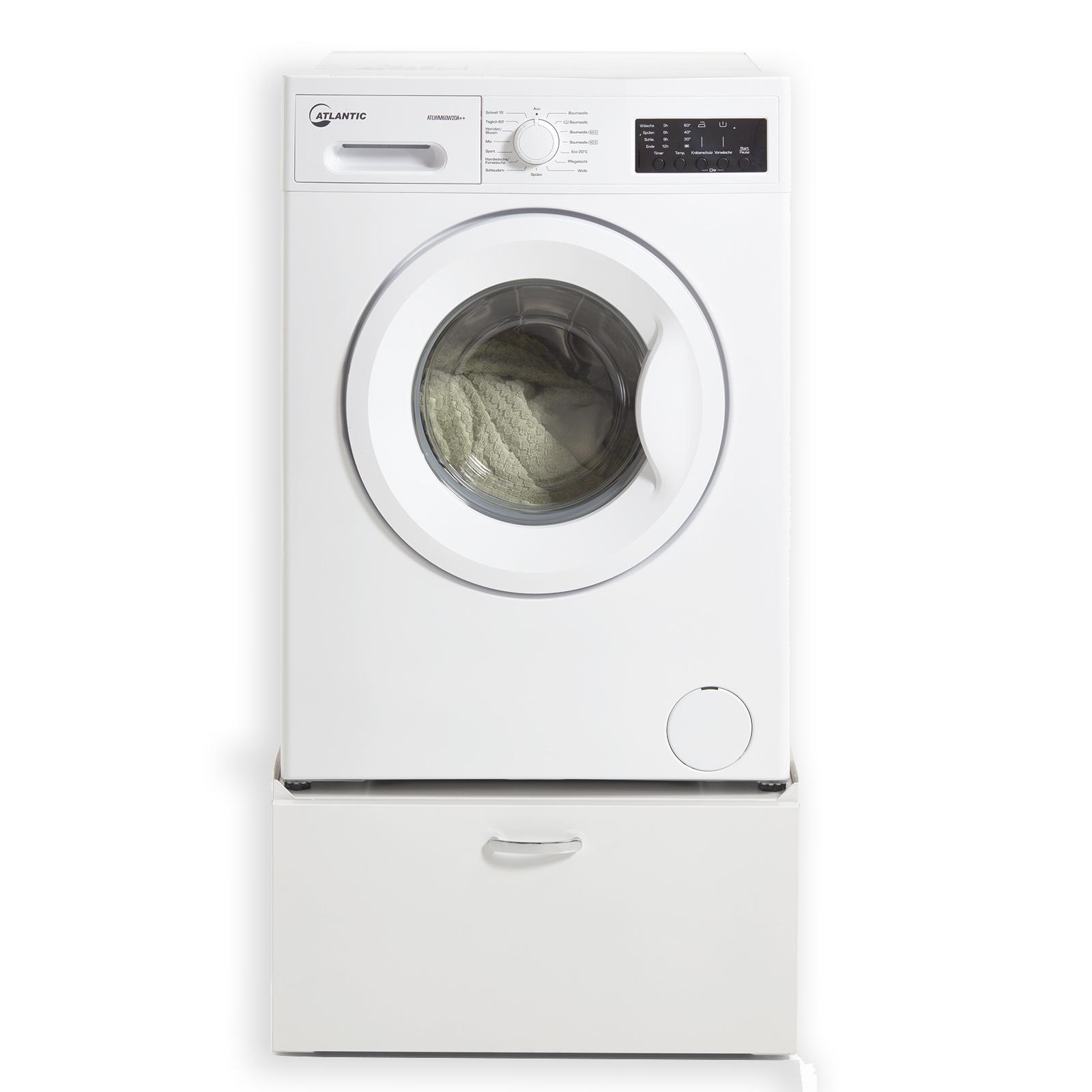 Waschmaschinen-Unterschrank - Metall - weiß