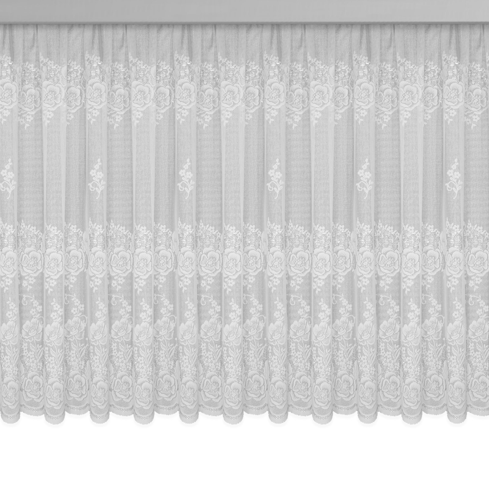 Gardine VERONA - Jaquard-Store - weiß - 450x125 cm