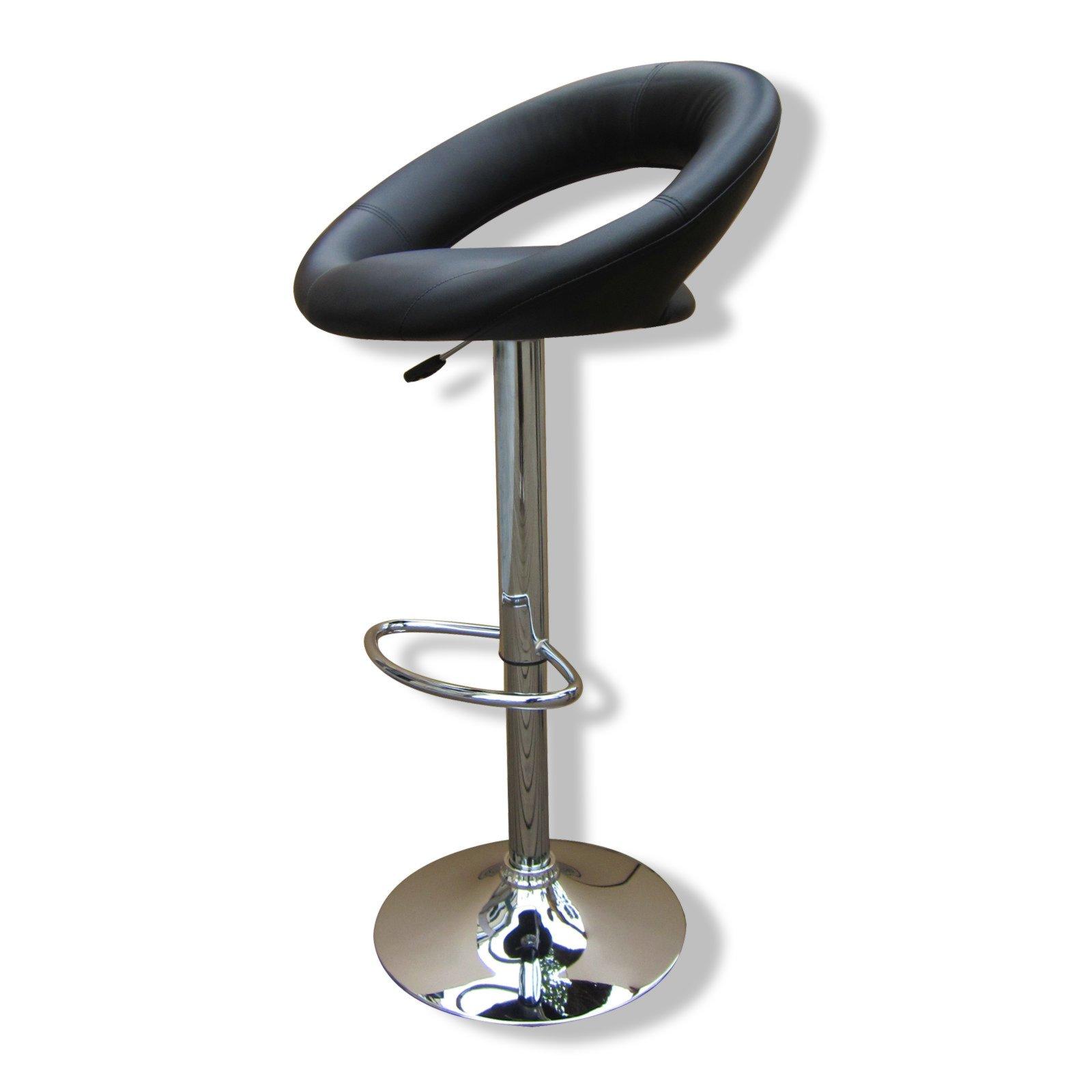 barhocker plump kunstleder schwarz chrom barhocker. Black Bedroom Furniture Sets. Home Design Ideas
