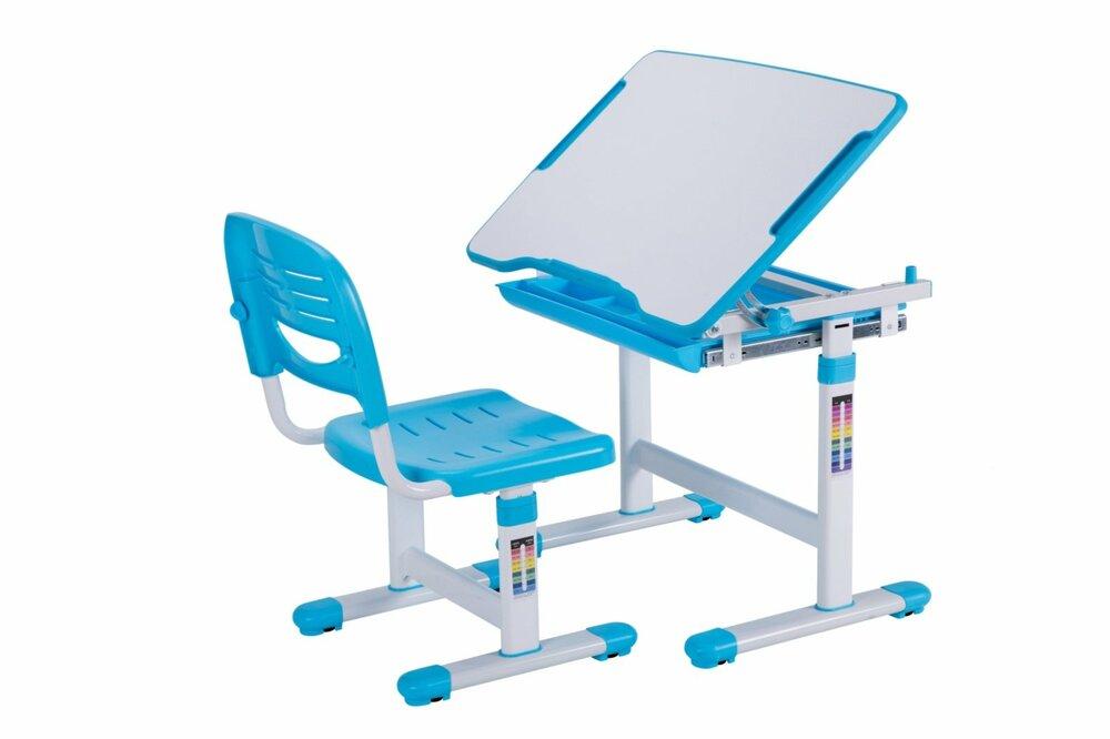 kinderschreibtisch comfortline blau mit stuhl kinderschreibtische schreibtische m bel. Black Bedroom Furniture Sets. Home Design Ideas