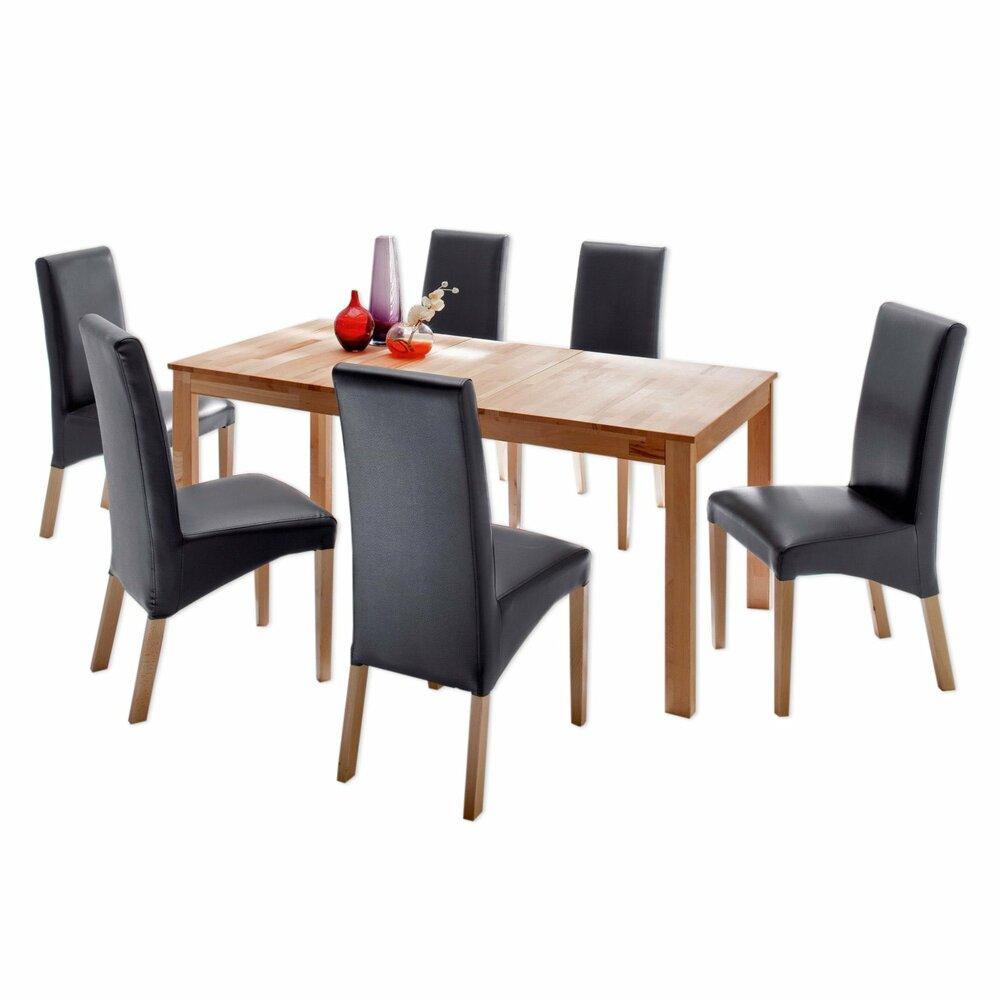 tisch fabian kernbuche massiv ausziehbar esstische sitzen essen esszimmer. Black Bedroom Furniture Sets. Home Design Ideas