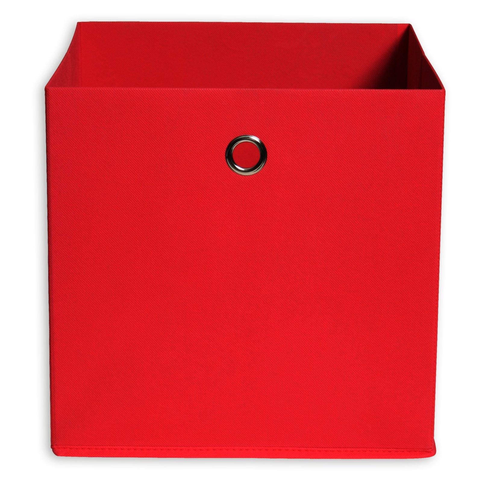 Faltbox - rot - mit Metallöse - 32x32 cm