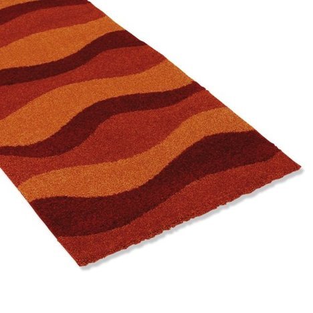 teppich wien orange 80x150 cm gemusterte teppiche teppiche l ufer deko haushalt. Black Bedroom Furniture Sets. Home Design Ideas