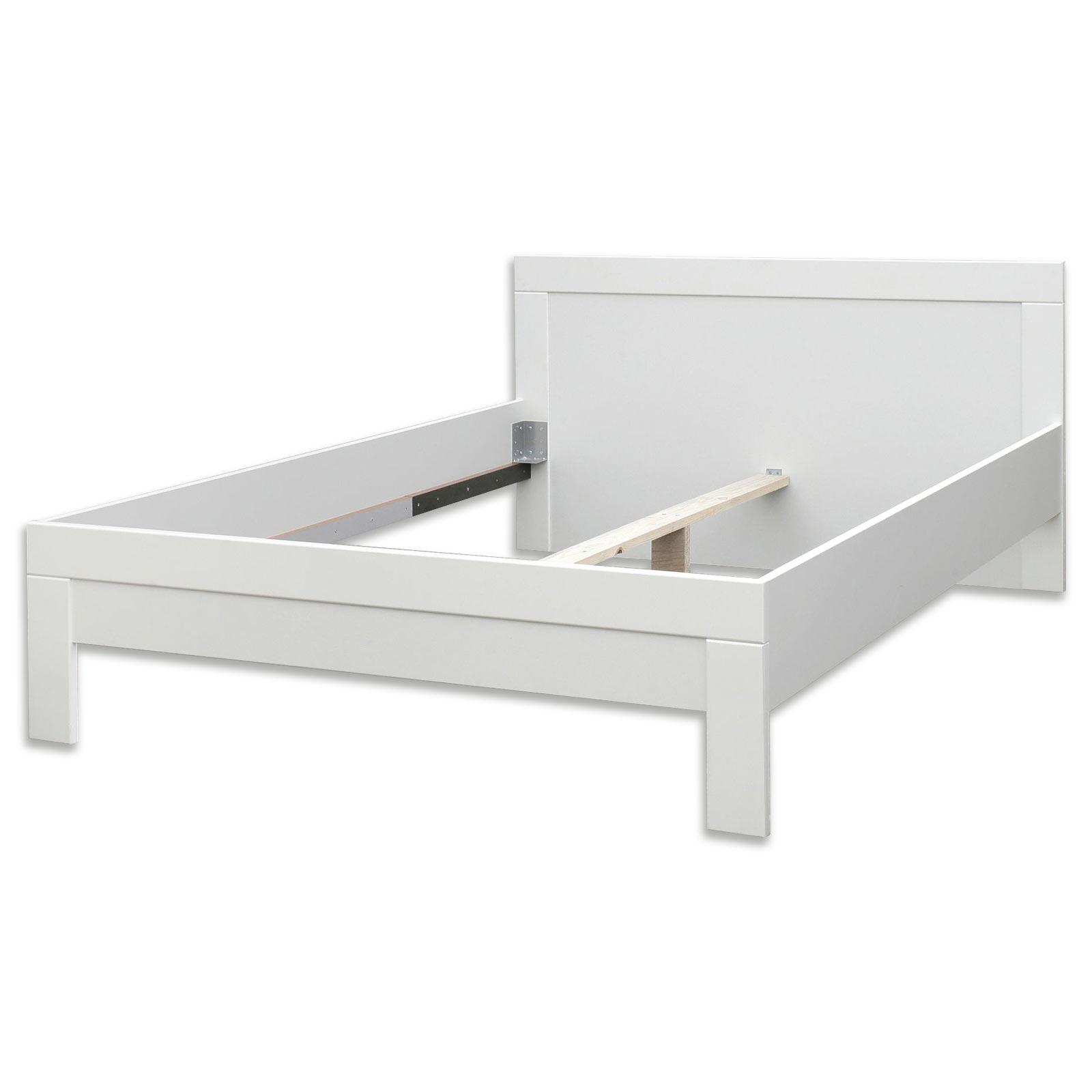 Bett 140x200 Weiss Holz