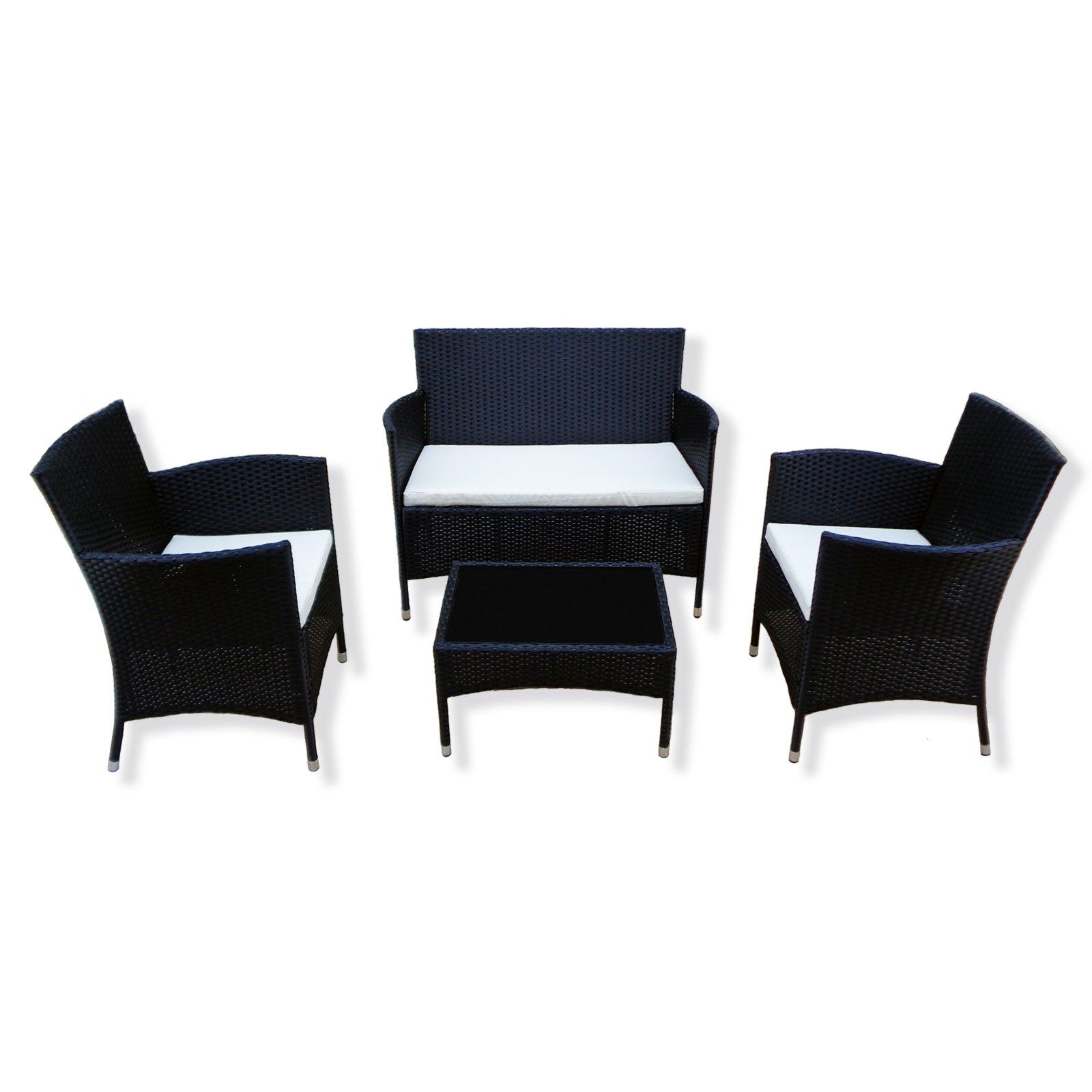 gardiola garten sitzgruppe sirmione ii schwarz rattanopitk gartenm bel sets gartenm bel. Black Bedroom Furniture Sets. Home Design Ideas