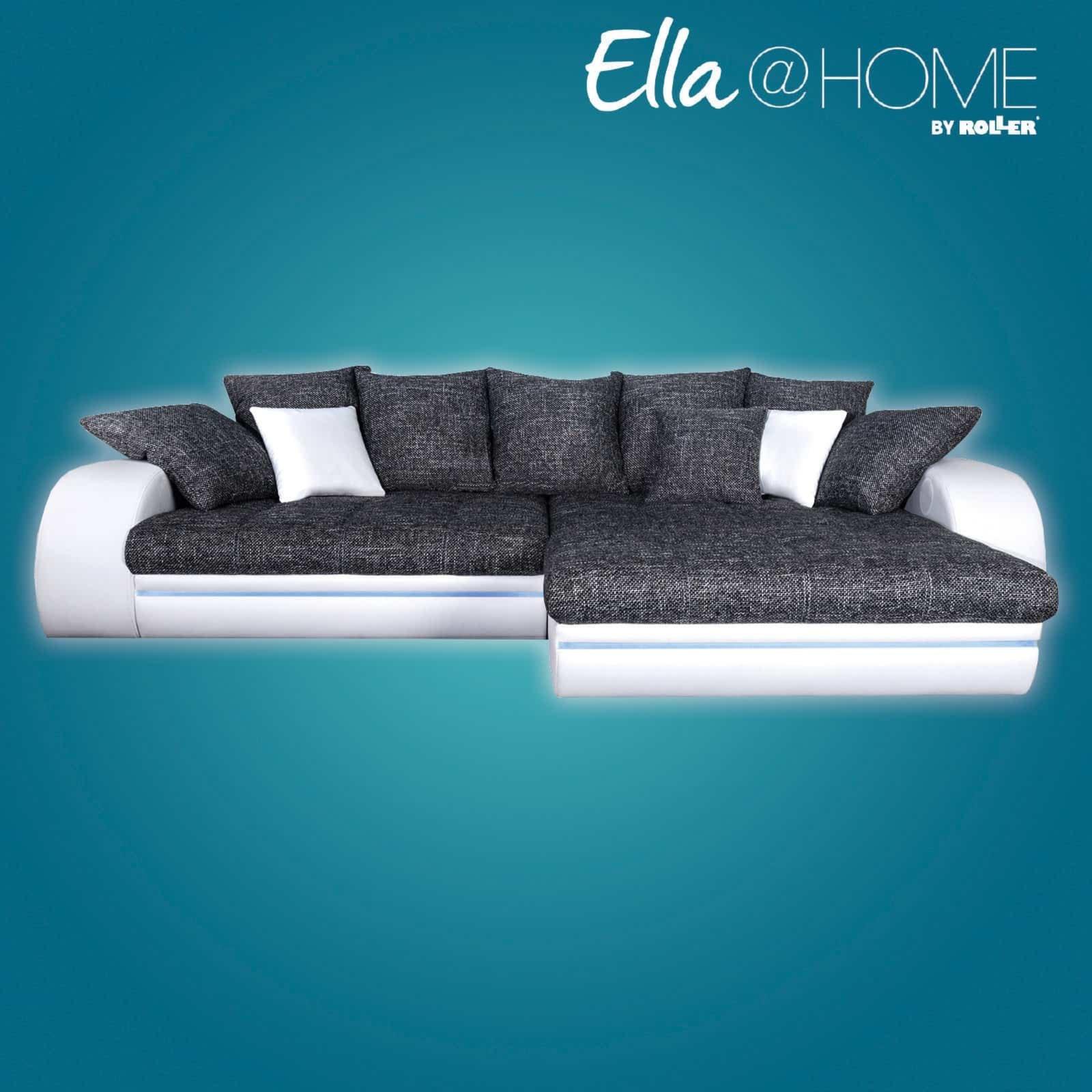 ecksofa anthrazit wei mit beleuchtung recamiere. Black Bedroom Furniture Sets. Home Design Ideas