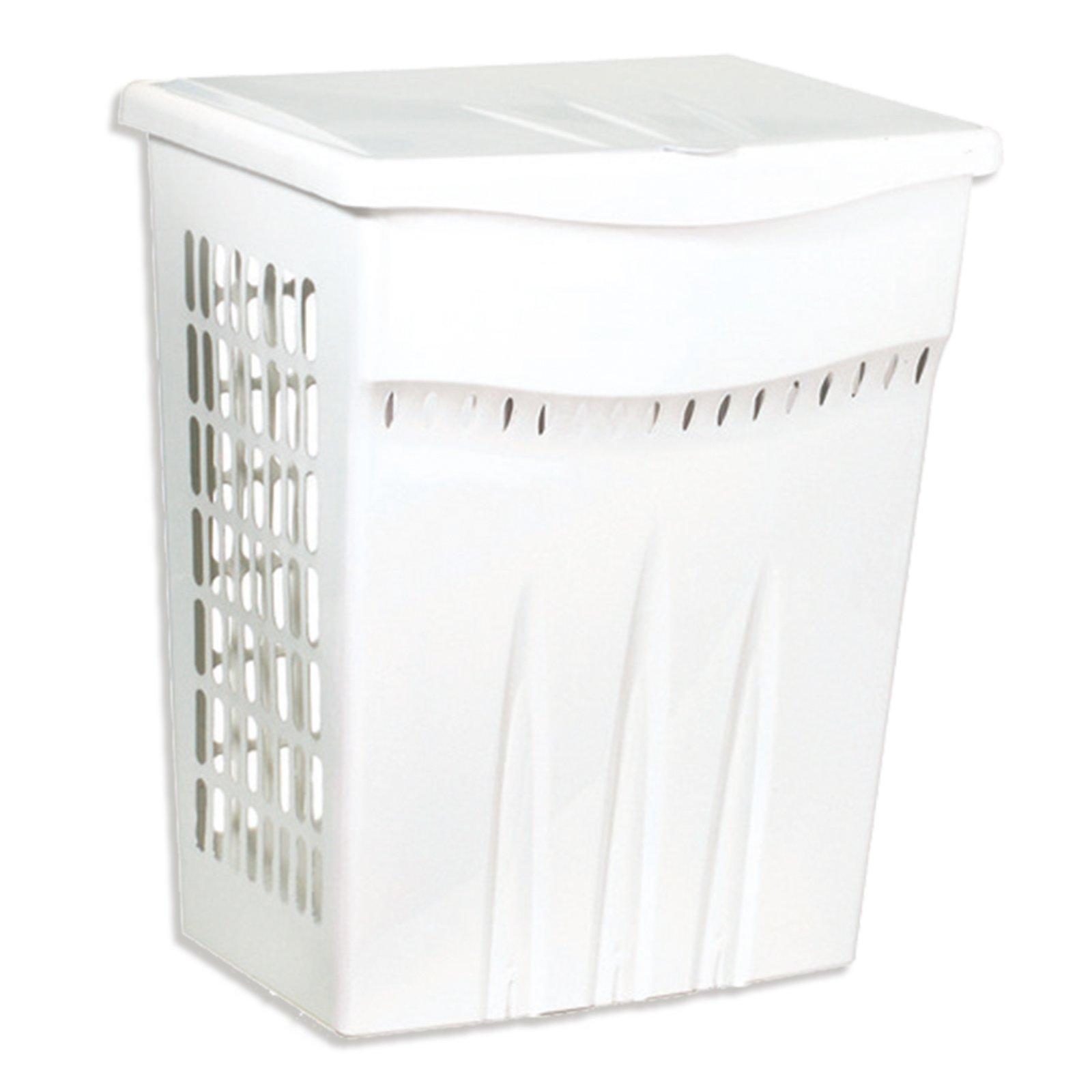 Wäschebox - weiß - Klappdeckel - 60 Liter