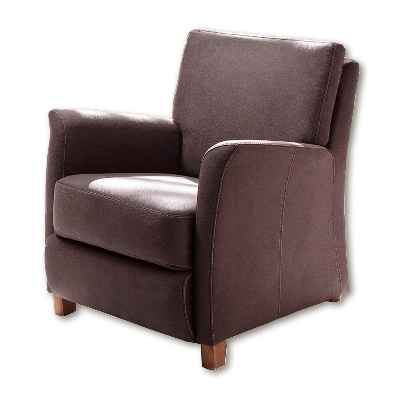 sessel braun microfaser fernseh relaxsessel sessel hocker m bel roller m belhaus. Black Bedroom Furniture Sets. Home Design Ideas
