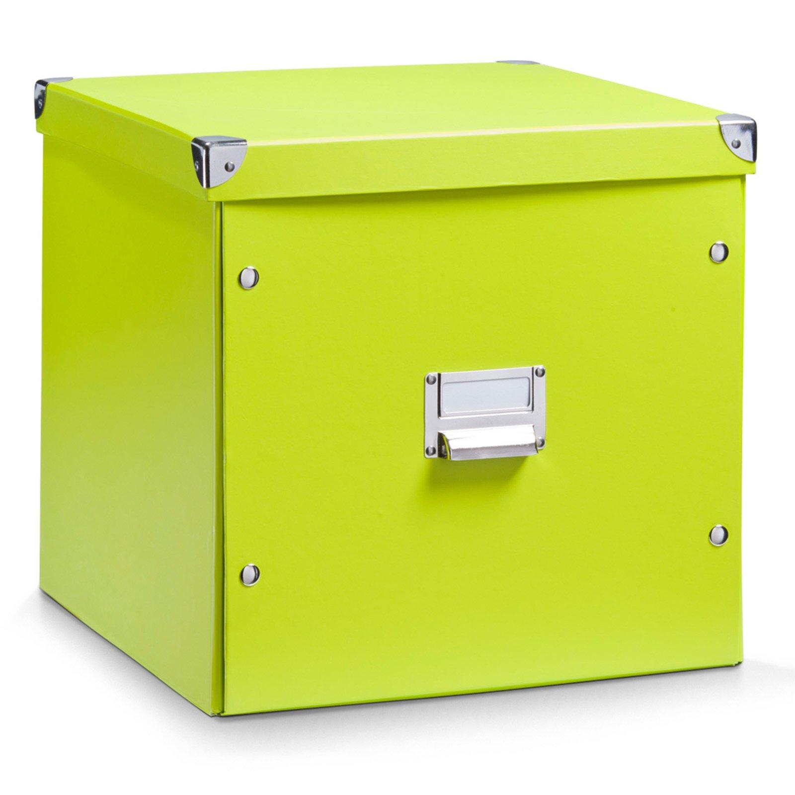 aufbewahrungsbox gr n faltbar 33 5x33 cm boxen k rbe deko haushalt m belhaus roller. Black Bedroom Furniture Sets. Home Design Ideas