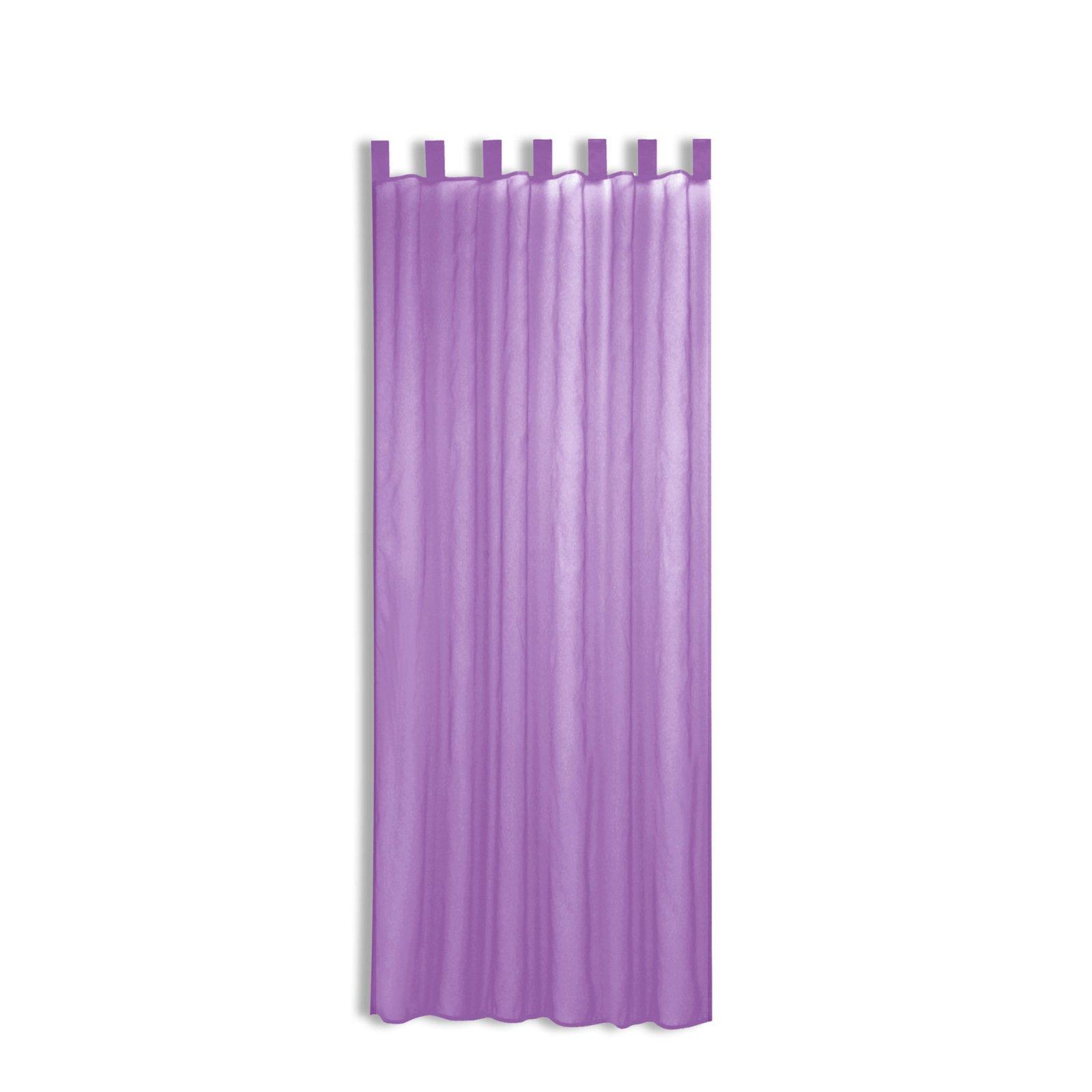 schlaufenschal look violett 140x225 cm transparente gardinen gardinen vorh nge deko. Black Bedroom Furniture Sets. Home Design Ideas