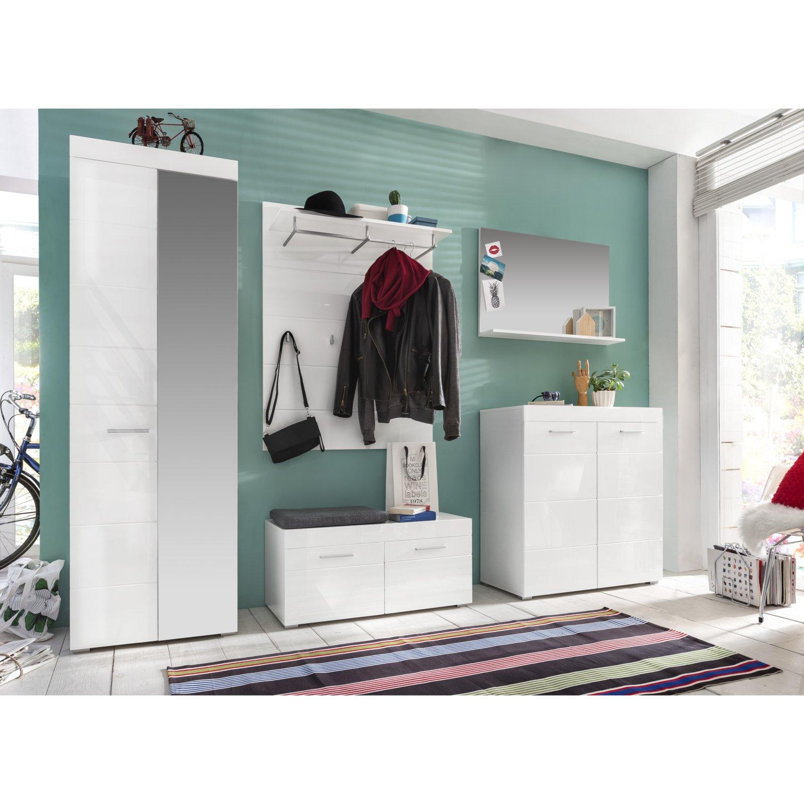 Gewaltig Garderobenschrank Weiß Foto Von Amanda - Weiß Hochglanz - 62 Cm