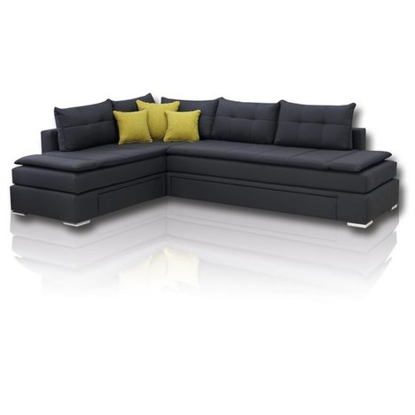 boxspring schlafsofa anthrazit dauerschl fer h3 ecksofas l form sofas couches. Black Bedroom Furniture Sets. Home Design Ideas