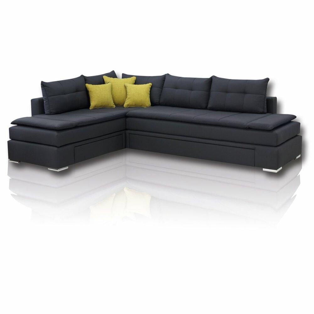 boxspring schlafsofa anthrazit dauerschl fer h3 ecksofas l form sofas couches. Black Bedroom Furniture Sets. Home Design Ideas