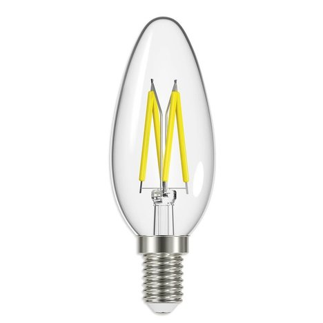 3er-Set LED-Leuchtmittel Kerze FILAMENT - E14/B35 - 4 Watt