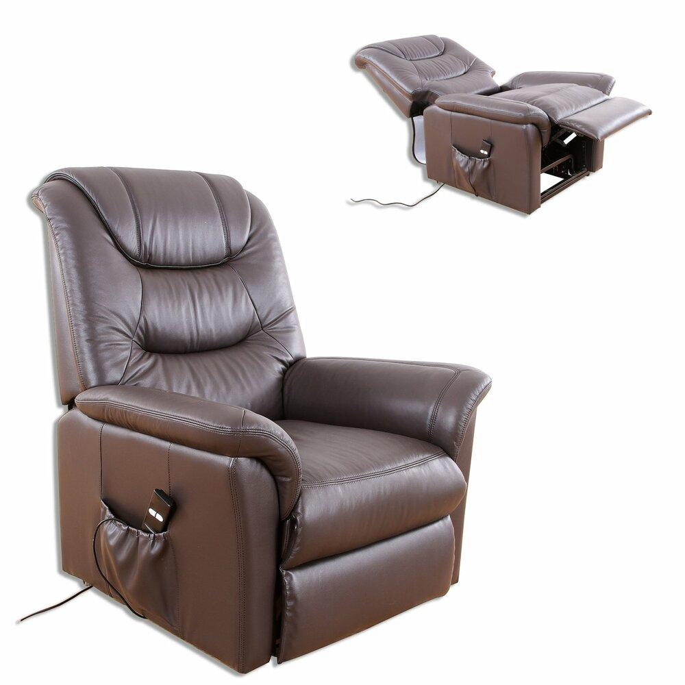 tv sessel braun leder fernseh relaxsessel sessel hocker m bel roller m belhaus. Black Bedroom Furniture Sets. Home Design Ideas