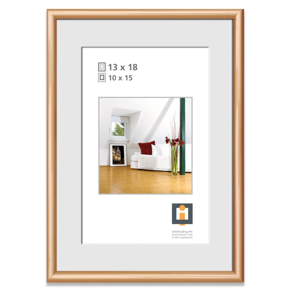 Bilderrahmen - gold - Kunststoff - 13x18 cm