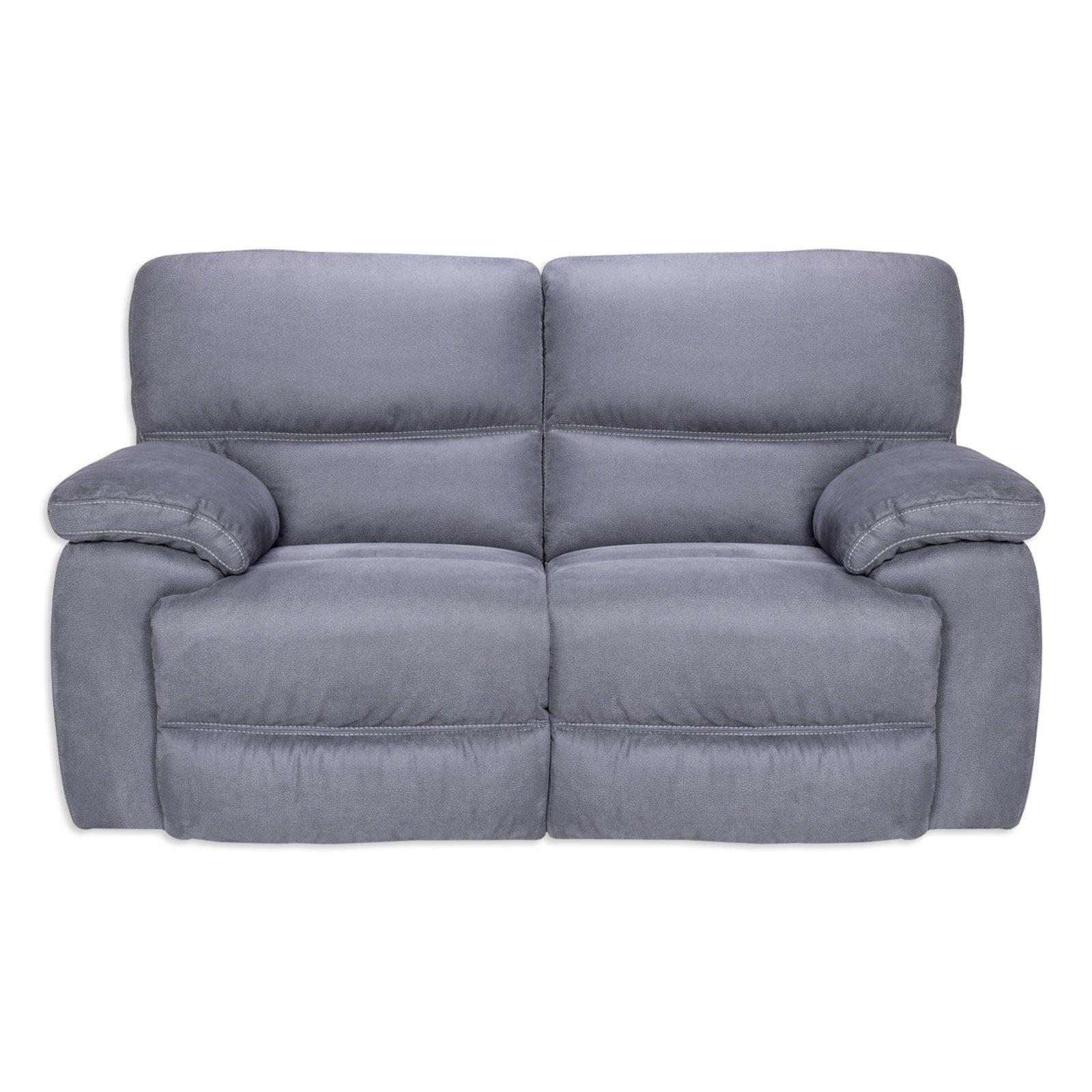 2 Sitzer Sofa Grau Microfaser