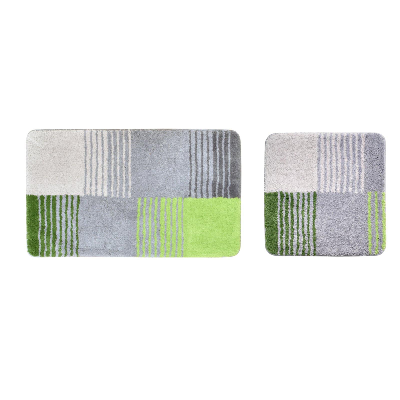 badgarnitur toledo gr n grau 2 teilig badteppiche matten badtextilien heimtextilien. Black Bedroom Furniture Sets. Home Design Ideas