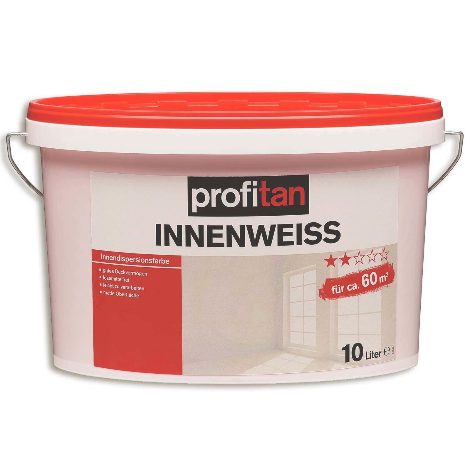Profitan Innenweiß Wand  Und Deckenfarbe   Matt   10 Liter