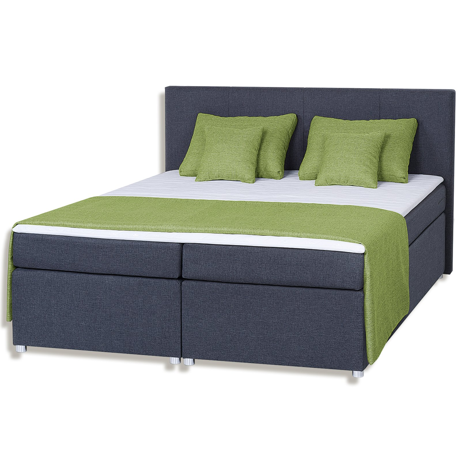 roller boxspringbett haiti h3 dunkelgrau 180x200 cm ebay. Black Bedroom Furniture Sets. Home Design Ideas